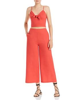 AQUA - Sweetheart Crop Top & Wide-Leg Cropped Pants - 100% Exclusive