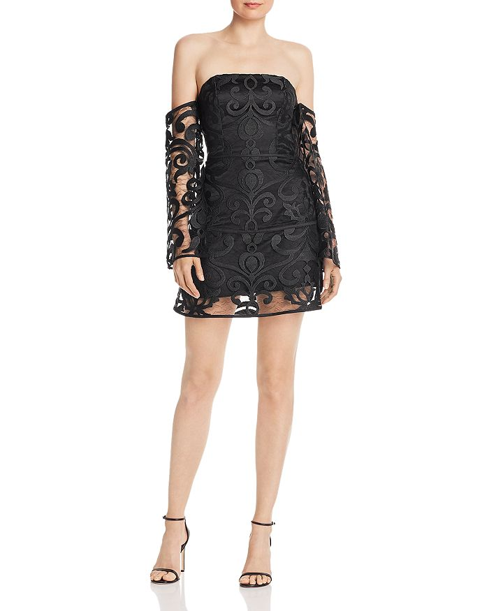 Finders Keepers - Alchemy Off-The-Shoulder Lace Mini Dress - 100% Exclusive