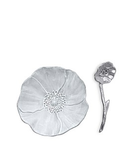 Mariposa - Poppy Ceramic Canape Plate & Poppy Spoon