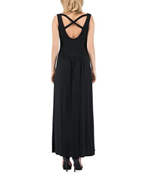 B Collection by Bobeau - Caine Crisscross-Back Maxi Dress