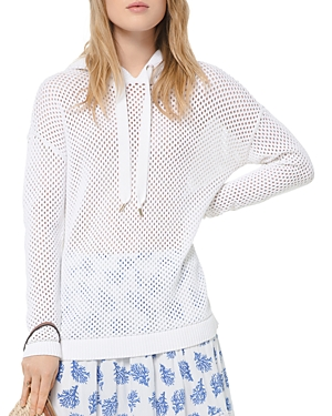 Michael Michael Kors Sheer Openwork Cotton Hoodie