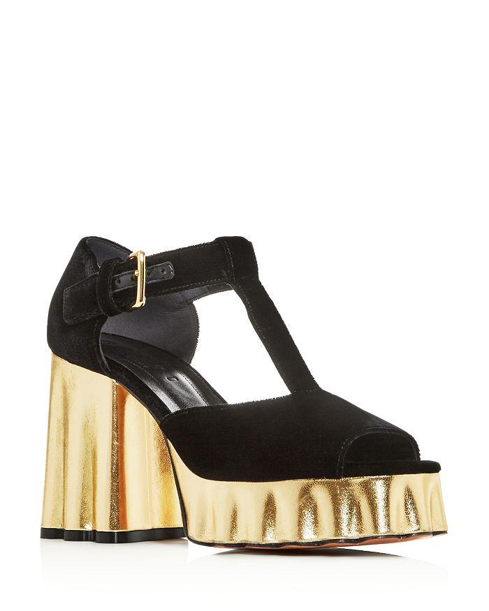 Marni - Women's T-Strap Block High-Heel Platform Sandals