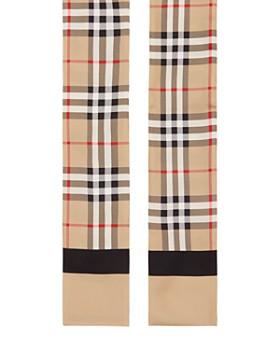 Burberry - Vintage Check & Logo Silk Skinny Scarf