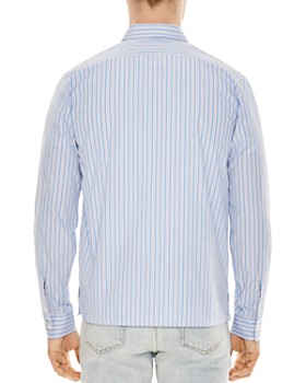 Sandro - Zip-Front Striped Slim Fit Shirt