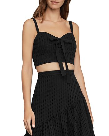 BCBGMAXAZRIA - Lace-Up Bustier Cropped Top