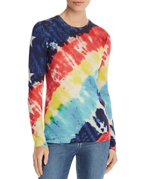 AQUA - Tie-Dye Star-Sleeve Cashmere Sweater - 100% Exclusive