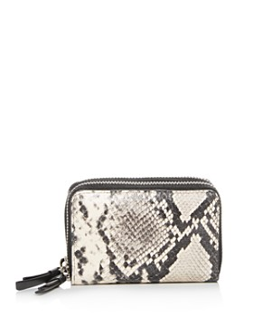 ALLSAINTS - Snake-Embossed Leather Card Case
