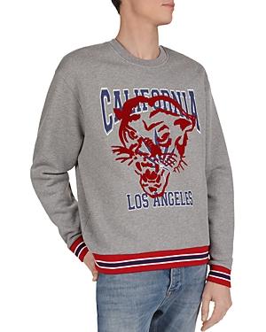 The Kooples California Panther Flocked Cotton Sweatshirt