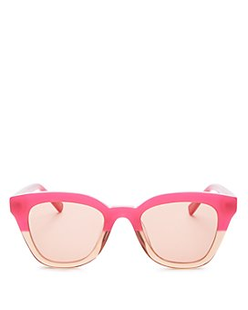 Le Specs Luxe - Women's High Jinks Square Sunglasses, 49mm