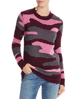 AQUA - Camo Jacquard Cashmere Sweater - 100% Exclusive