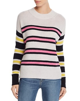 AQUA - Mixed-Stripe Cashmere Sweater - 100% Exclusive