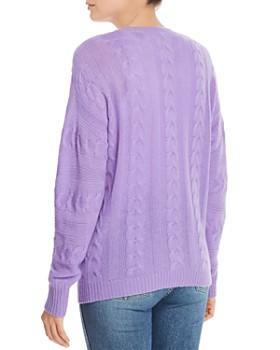 8138abf64bc01 ... AQUA - Cable-Knit Crewneck Cashmere Sweater - 100% Exclusive