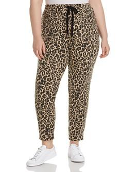 LNA Plus - Brushed Leopard-Print Jogger Pants