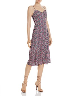 Lost and Wander - Orchid Floral-Print Midi Slip Dress