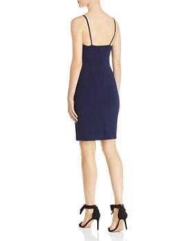AQUA - V-Neck Mini Dress - 100% Exclusive