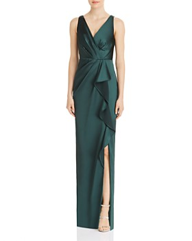Adrianna Papell - Draped Full-Length Gown