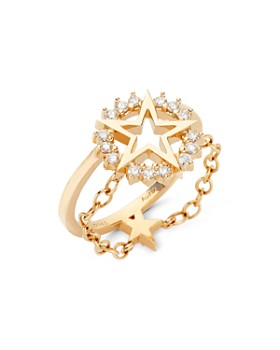 Nouvel Heritage - 18K Yellow Gold Mystic Diamond Medium Star Ring