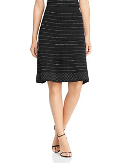 Calvin Klein - Stretch-Knit Striped Skirt