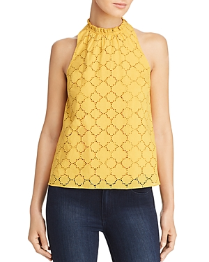 1.state High-Neck Crochet Top