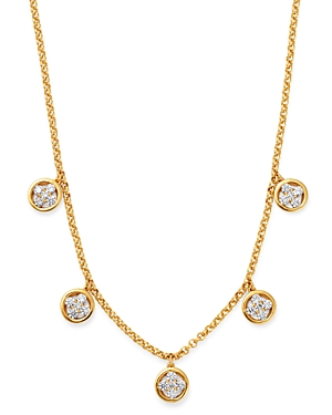 Bloomingdale's Diamond Clover Droplet Necklace in 14K Yellow Gold, 1.0 ct. t.w. - 100% Exclusive