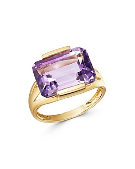 Bloomingdale's - Amethyst East-West Ring in 14K Yellow Gold - 100% Exclusive