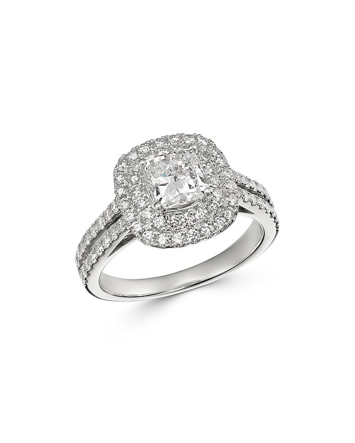 Bloomingdale's - Cushion-Cut Certified Diamond Engagement Ring in 18K White Gold, 2.0 ct. t.w. - 100% Exclusive