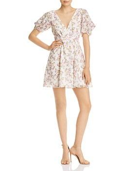 Fame and Partners - Longina Floral-Print Dress