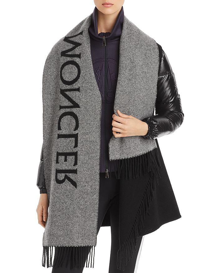 Moncler - Mantella Logo Scarf Down & Wool Coat