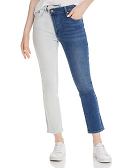 Pistola - Two-Tone Asymmetric Jeans - 100% Exclusive