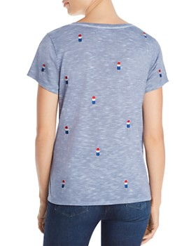 Billy T - Embroidered Rocket Pop-Inspired Tee