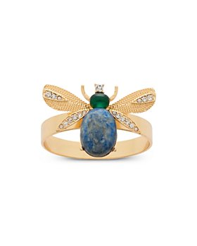 Joanna Buchanan - Etched Wing Bug Lapis Lazuli Napkin Rings, Set of 4