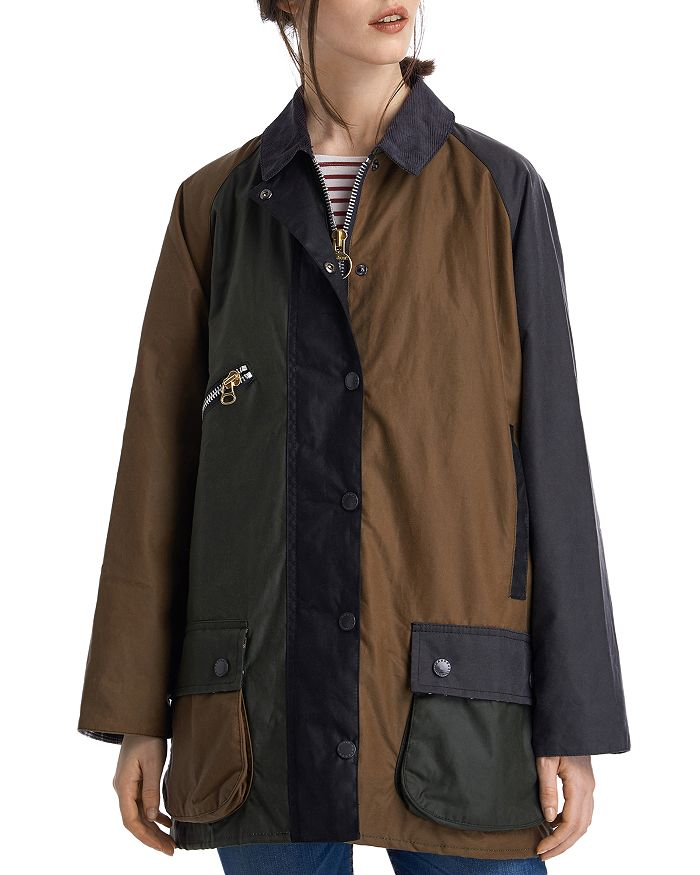 Barbour - by ALEXACHUNG Patch Waxed Cotton Jacket