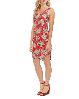 VINCE CAMUTO - Flutter-Shoulder Botanical Dress
