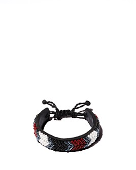 TO THE MARKET - Hand-Beaded Leather Bracelet