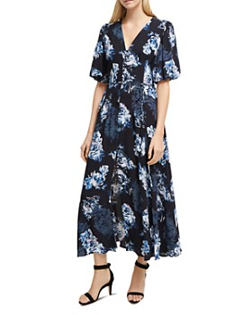FRENCH CONNECTION - Caterina Floral-Print Front-Button Midi Dress