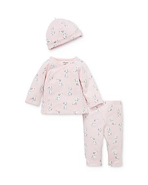 Little Me Girls' Puppy-Print Top, Pants & Cap Set - Baby