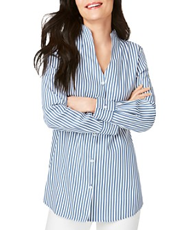 Foxcroft - Cena Non-Iron Striped Tunic Top
