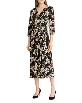 Ralph Lauren - Floral Faux-Wrap Midi Dress