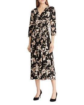 Ralph Lauren - Floral Faux-Wrap Midi Dress