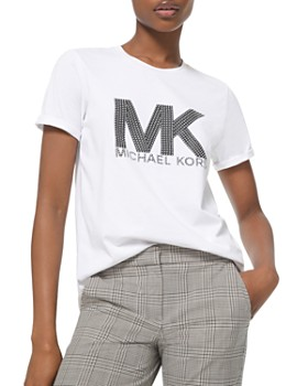 MICHAEL Michael Kors - Studded Logo Cotton T-Shirt