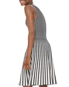 MICHAEL Michael Kors - Pleated Geo-Pattern A-Line Dress