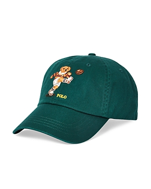 192351313 Rugby Bear Chino Cap in Green