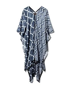 MAXHOSA BY LADUMA - Printed Chiffon Kaftan Dress