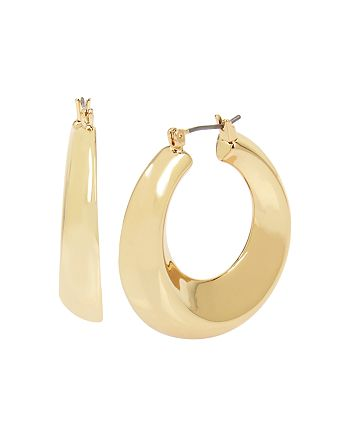 Robert Lee Morris Soho - Sculptural Wide Hoop Earrings