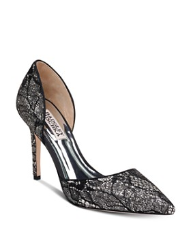 Badgley Mischka - Women's Lola Lace d'Orsay Pumps