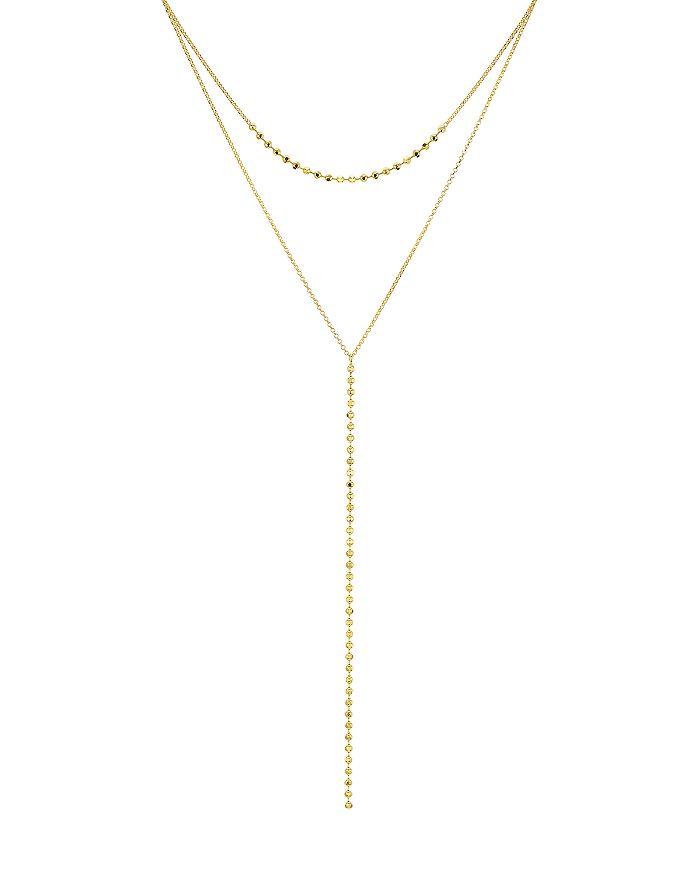 AQUA - Layered Beaded Lariat Necklace - 100% Exclusive