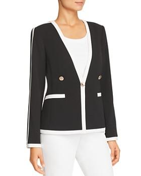 fbc814e1e07 Calvin Klein - Contrast-Trim Single-Button Blazer ...