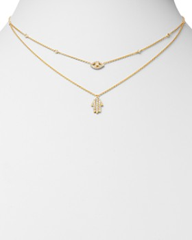 KC Designs - 14K Yellow Gold Diamond Evil Eye & Hamsa Double-Layer Necklace, 18""