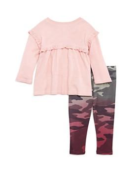 Splendid - Girls' Ruffled Top & Camo Leggings Set - Baby