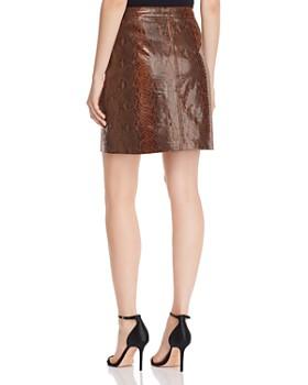 Elie Tahari - Tammy Snake-Embossed Leather Mini Skirt